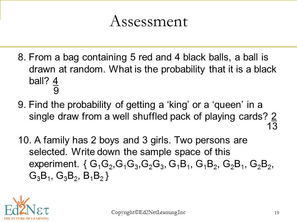 Copyright©Ed2NetLearning.Inc 19 Assessment 8.