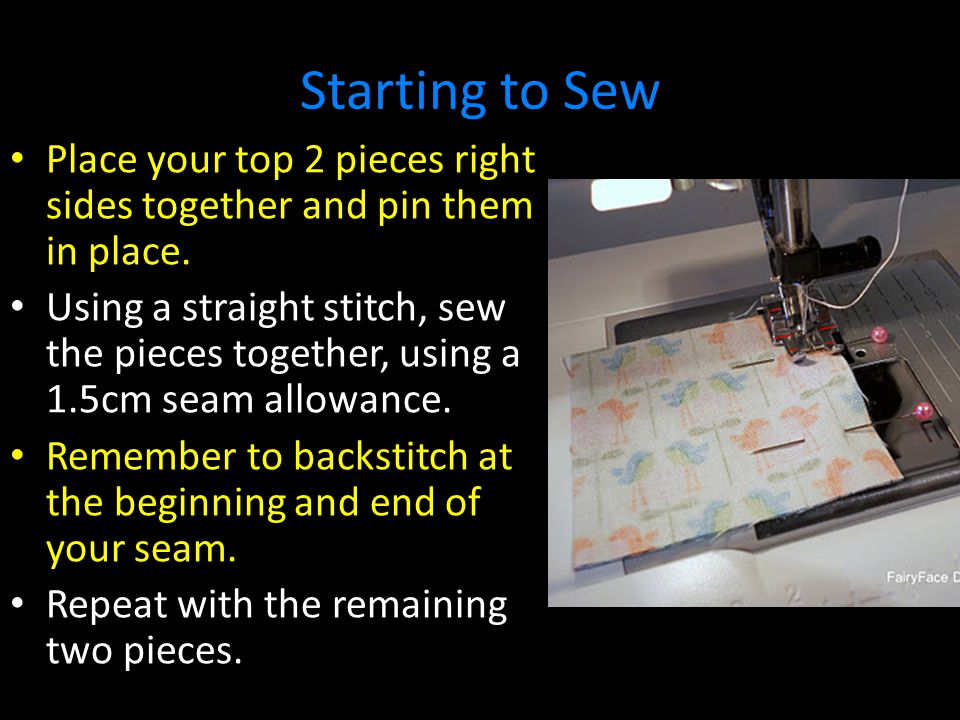 Preparing to Hand Sew Firstly, line up the 1.5 opening.