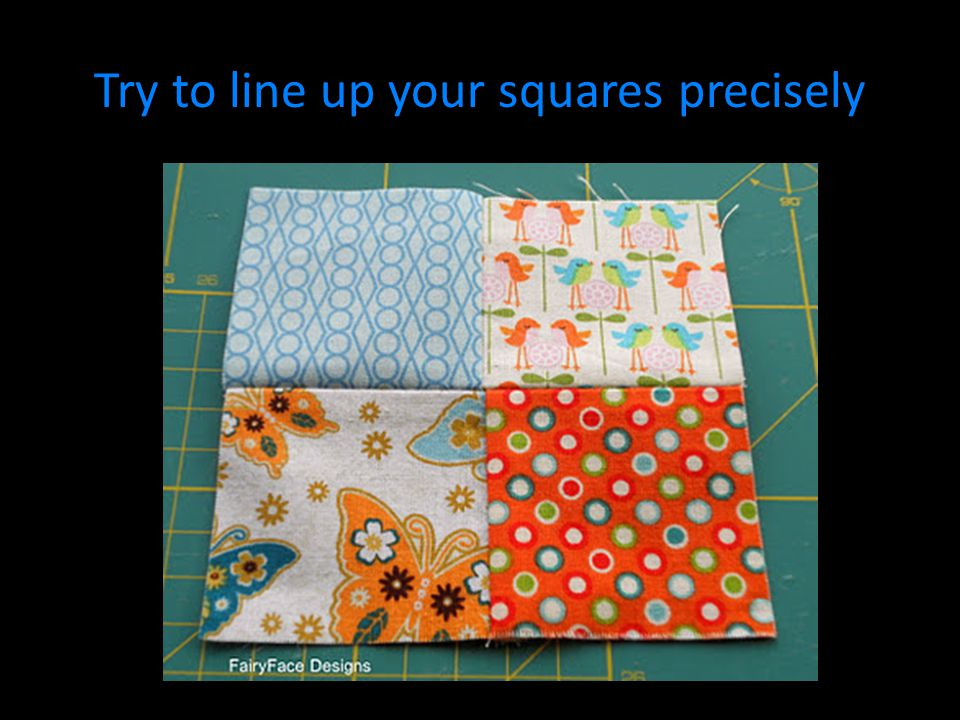 Try to line up your squares precisely