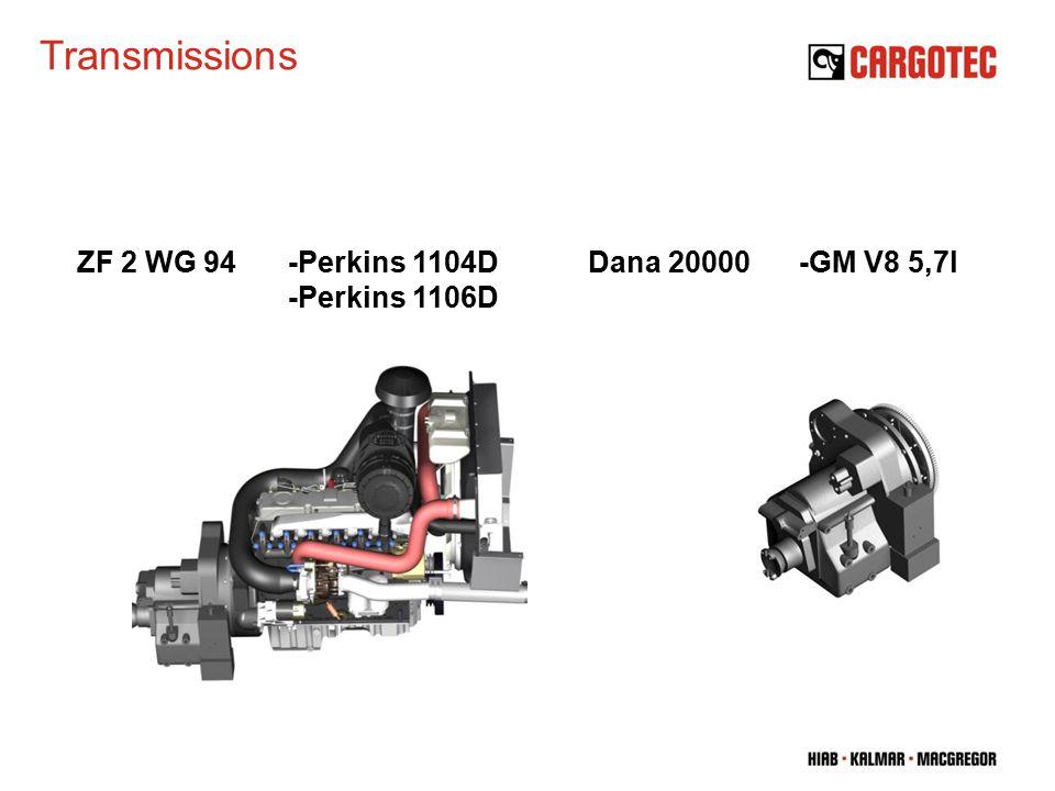 Transmissions Dana 20000-GM V8 5,7lZF 2 WG 94-Perkins 1104D -Perkins 1106D