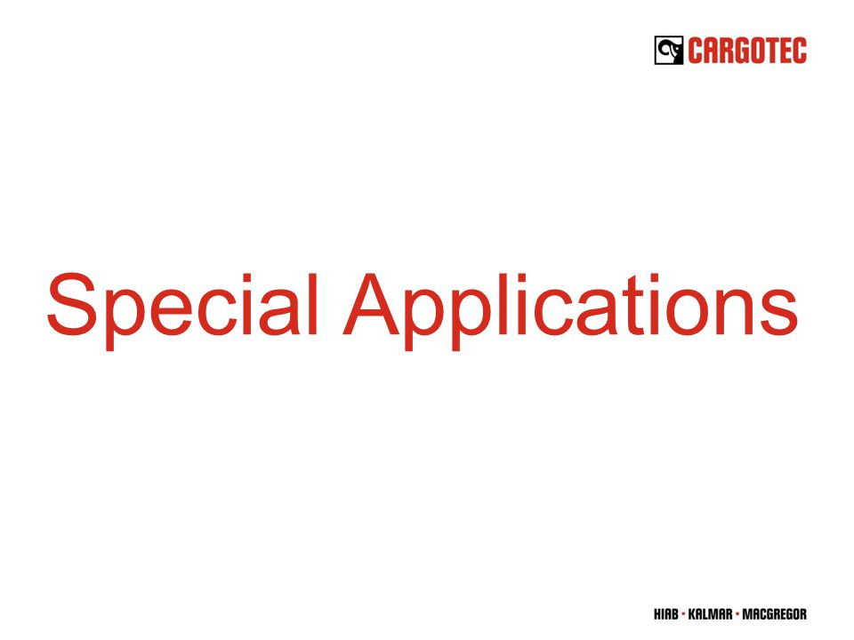 Special Applications