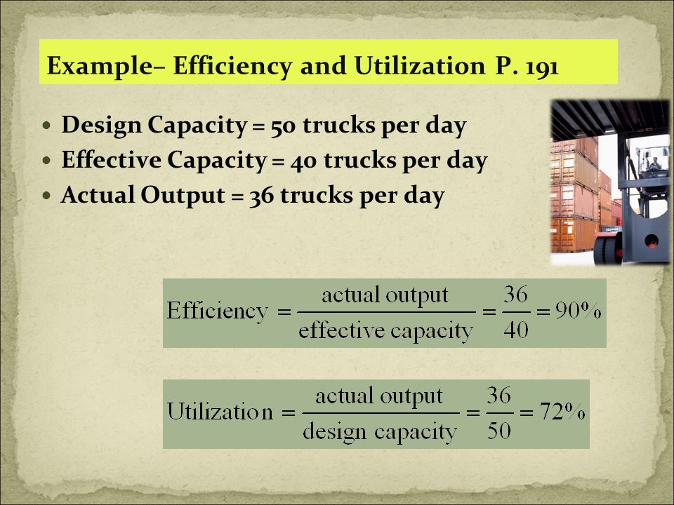 Example– Efficiency and Utilization P.