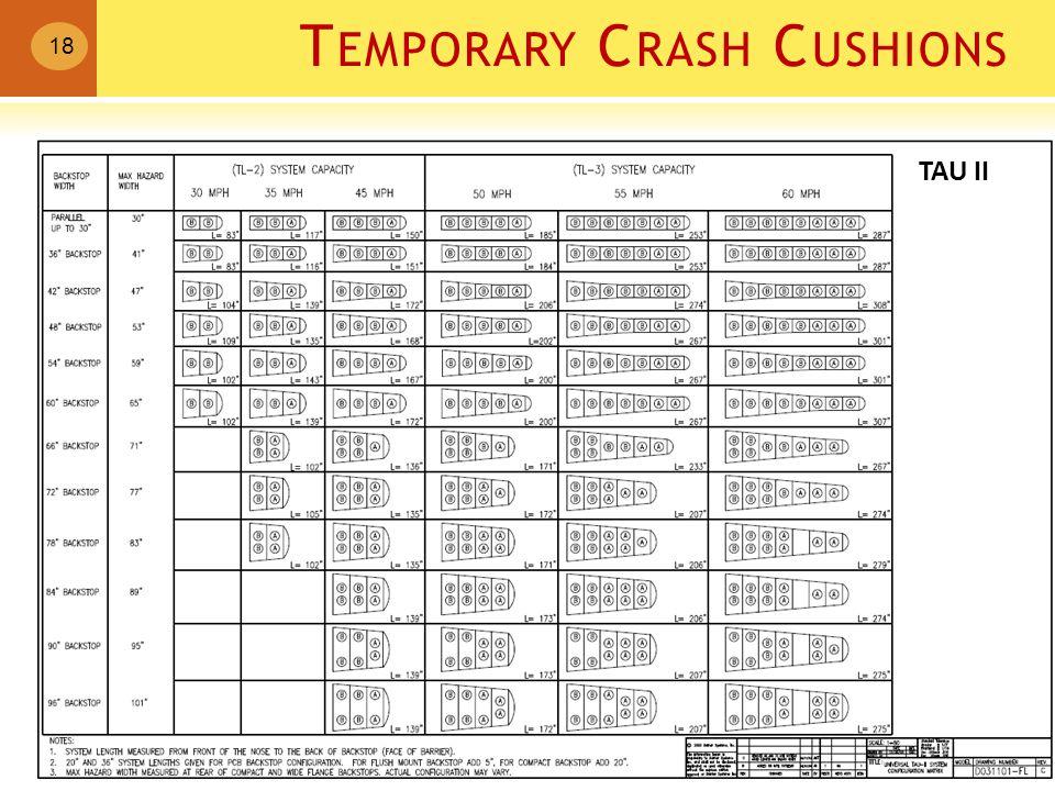 T EMPORARY C RASH C USHIONS 18 TAU II