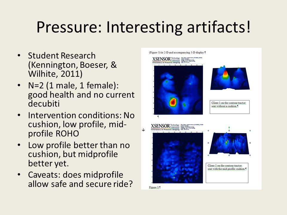 Pressure: Interesting artifacts.