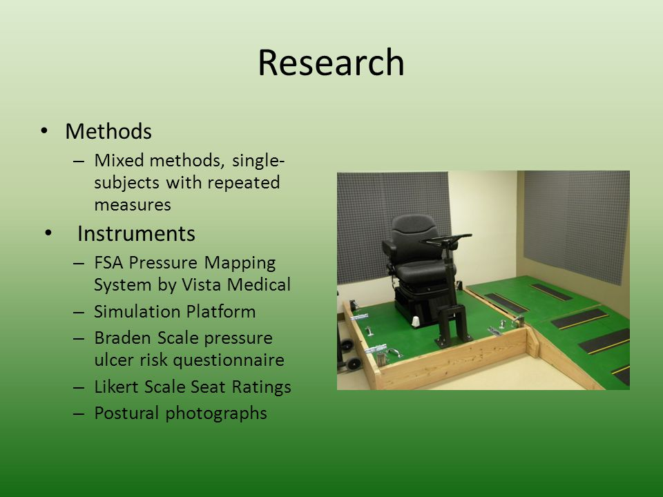 Results-Clinical Image Examples Contour Foam Tractor Seat-Settle Contour Foam Tractor Seat- Completed Perturbations