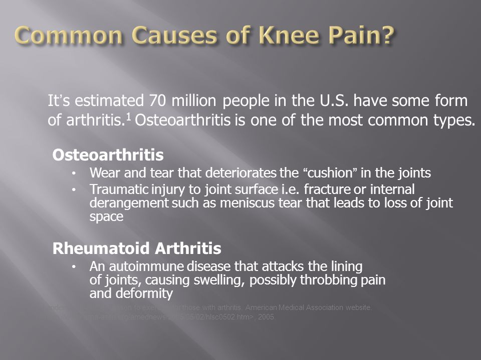 It's estimated 70 million people in the U.S. have some form of arthritis.