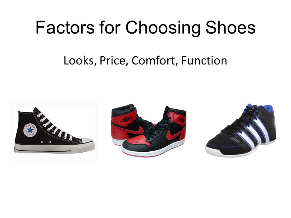 Which Shoe is Better.