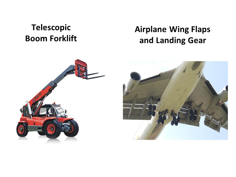 Telescopic Boom Forklift Airplane Wing Flaps and Landing Gear