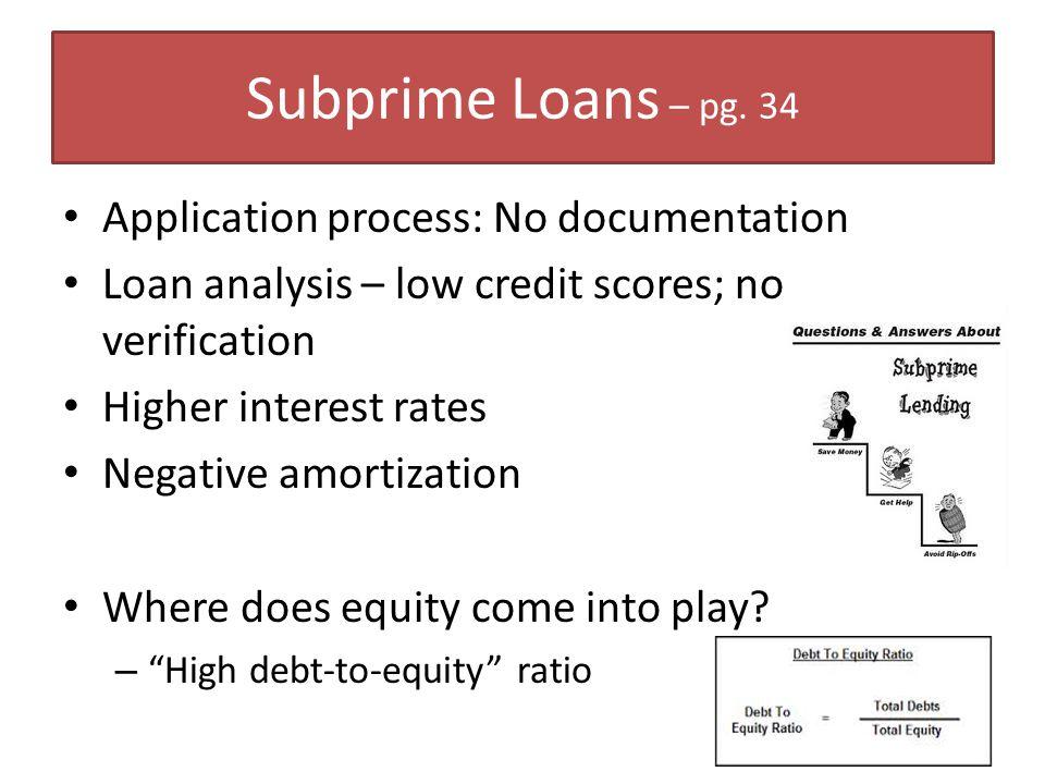 Subprime Loans – pg.
