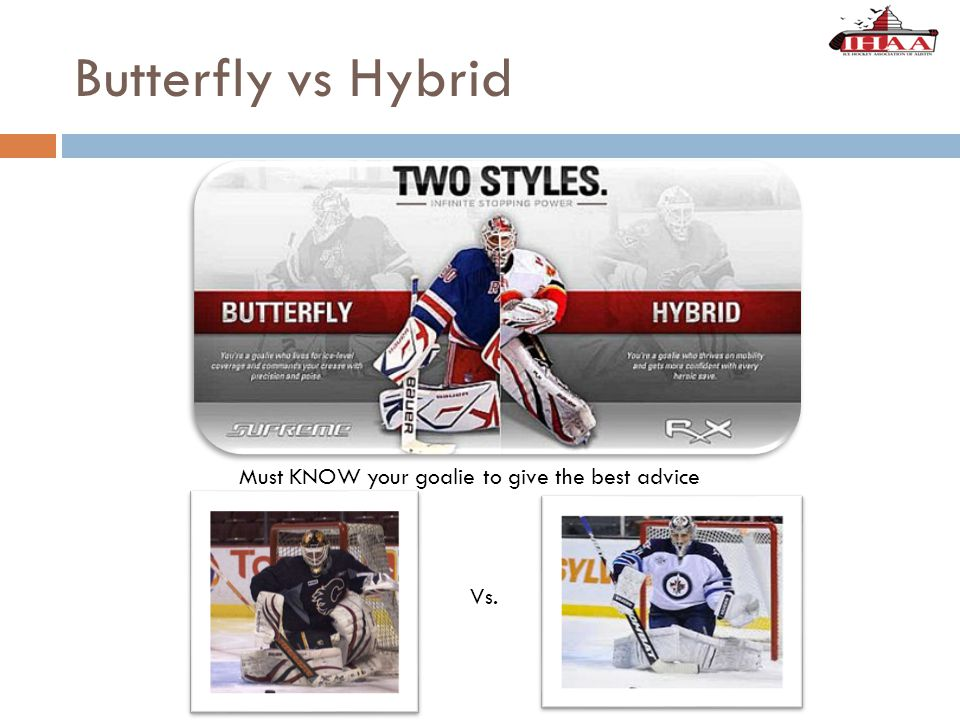 Butterfly vs Hybrid Vs. Must KNOW your goalie to give the best advice