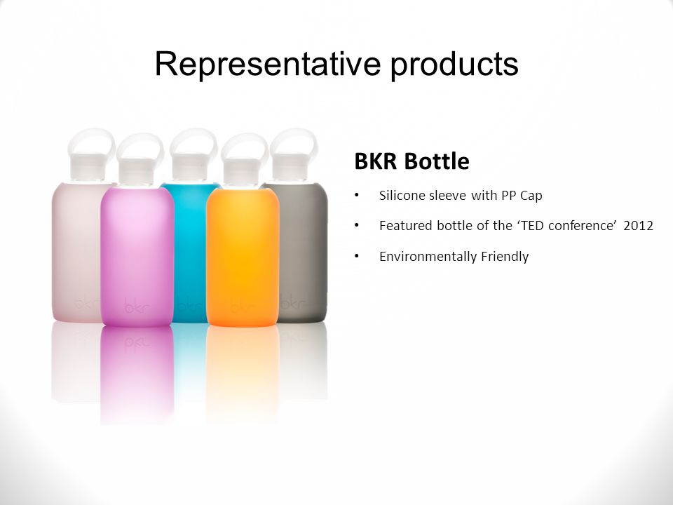 BKR Bottle Silicone sleeve with PP Cap Featured bottle of the 'TED conference' 2012 Environmentally Friendly Representative products