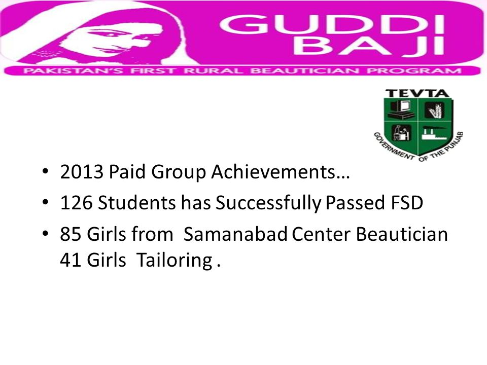 2012 Achievements.
