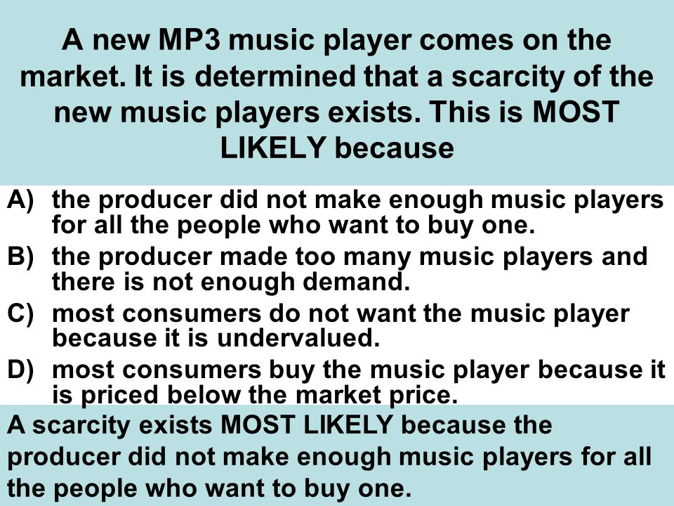 A new MP3 music player comes on the market.