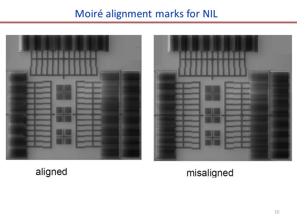 Moiré alignment marks for NIL 10