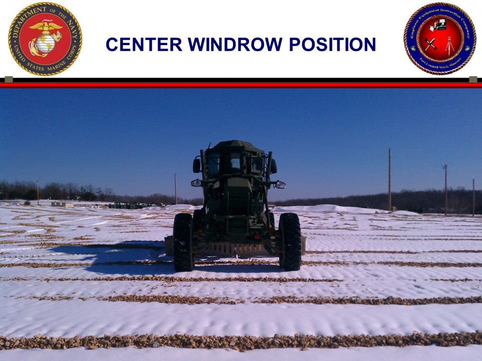 64 CENTER WINDROW POSITION