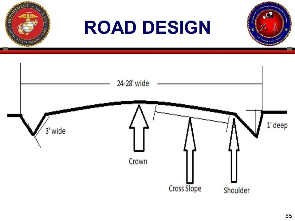 85 ROAD DESIGN