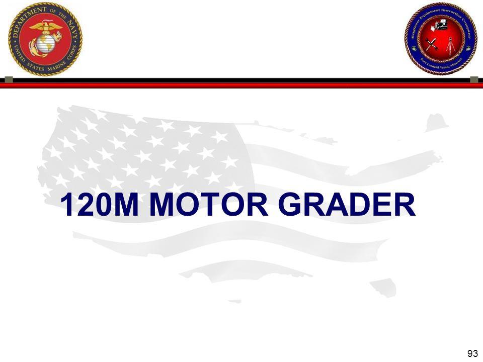 93 120M MOTOR GRADER