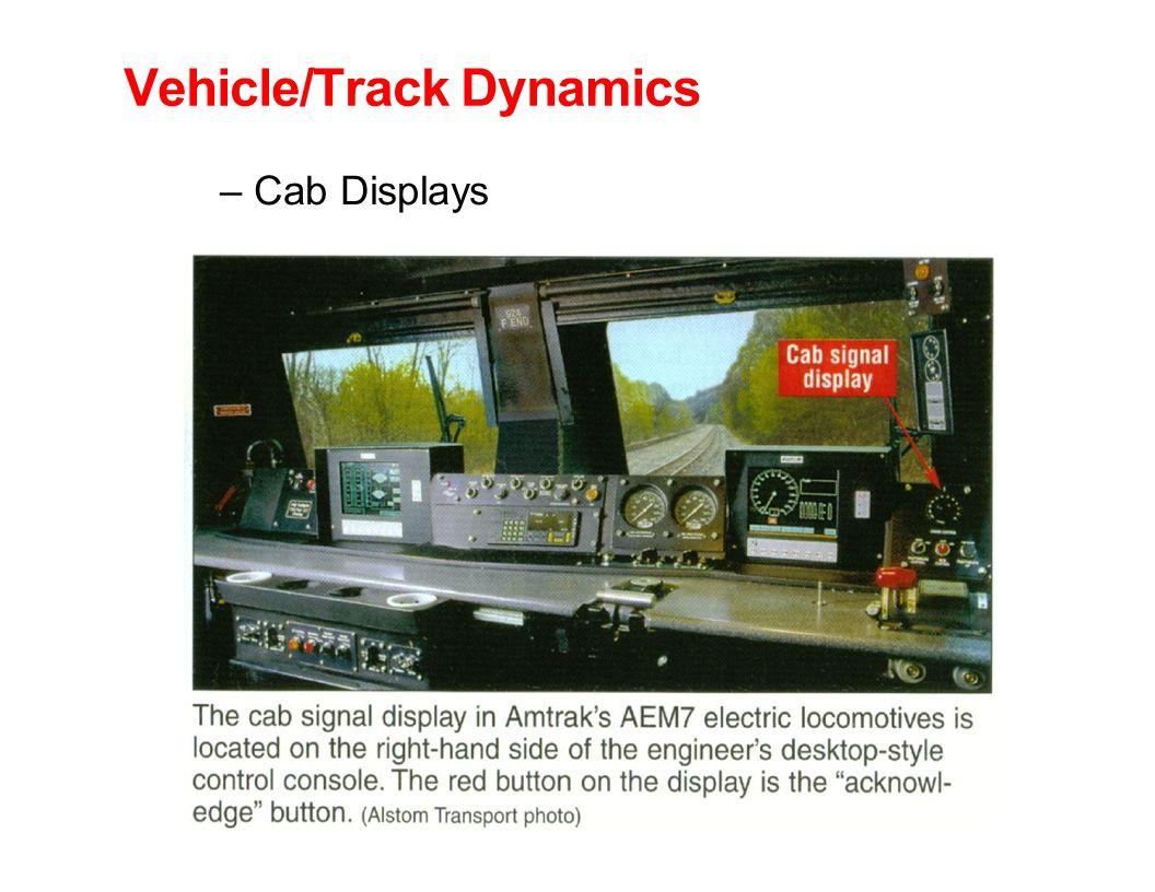 Vehicle/Track Dynamics – Cab Displays