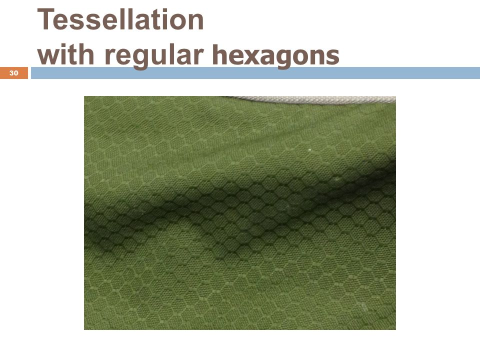 Tessellation with regular hexagons 30