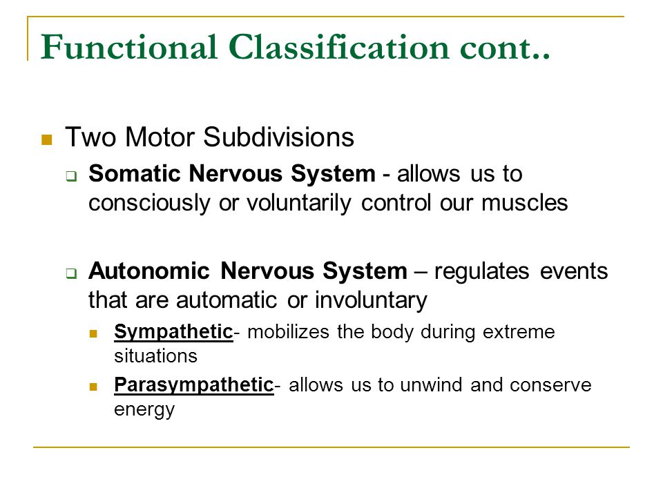 Functional Classification cont..