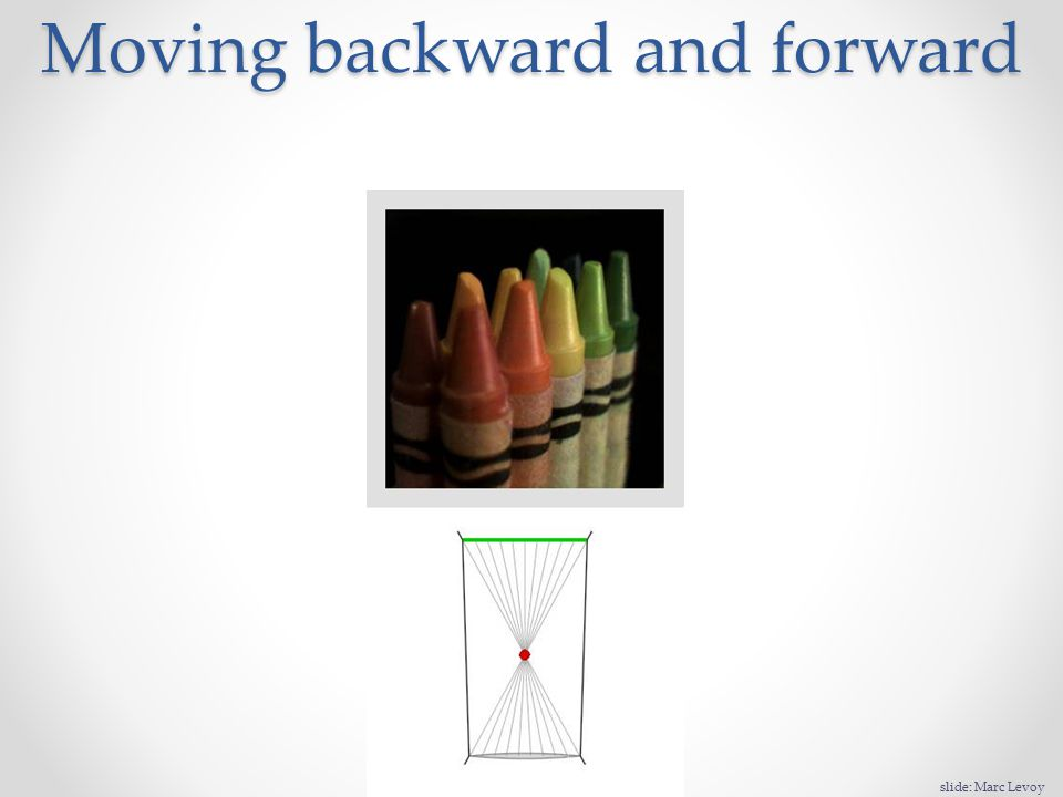 Moving backward and forward slide: Marc Levoy