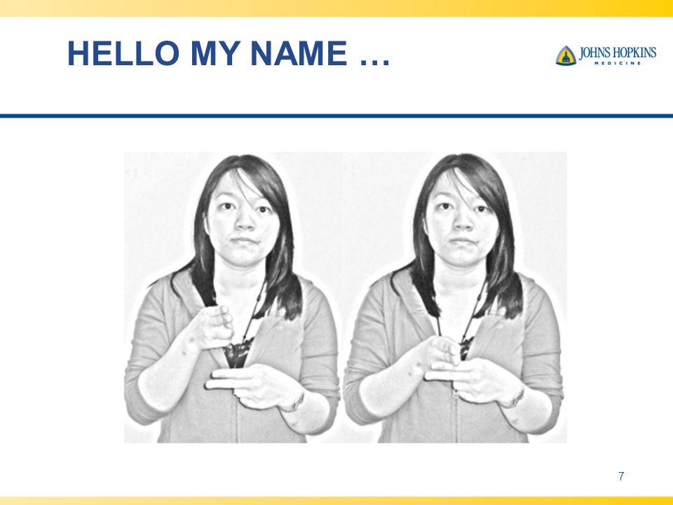 HELLO MY NAME … 7