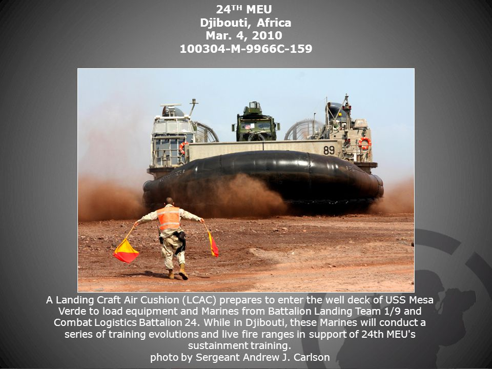 24 TH MEU Djibouti, Africa Mar.