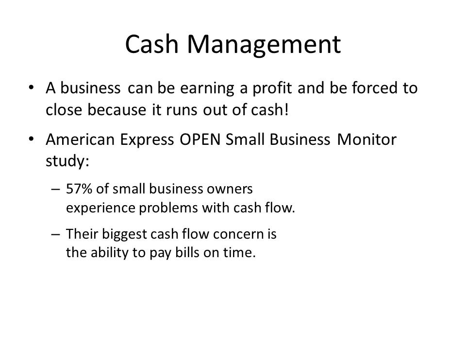 Small Business Owner's Rating of Their Companies' Cash Flow
