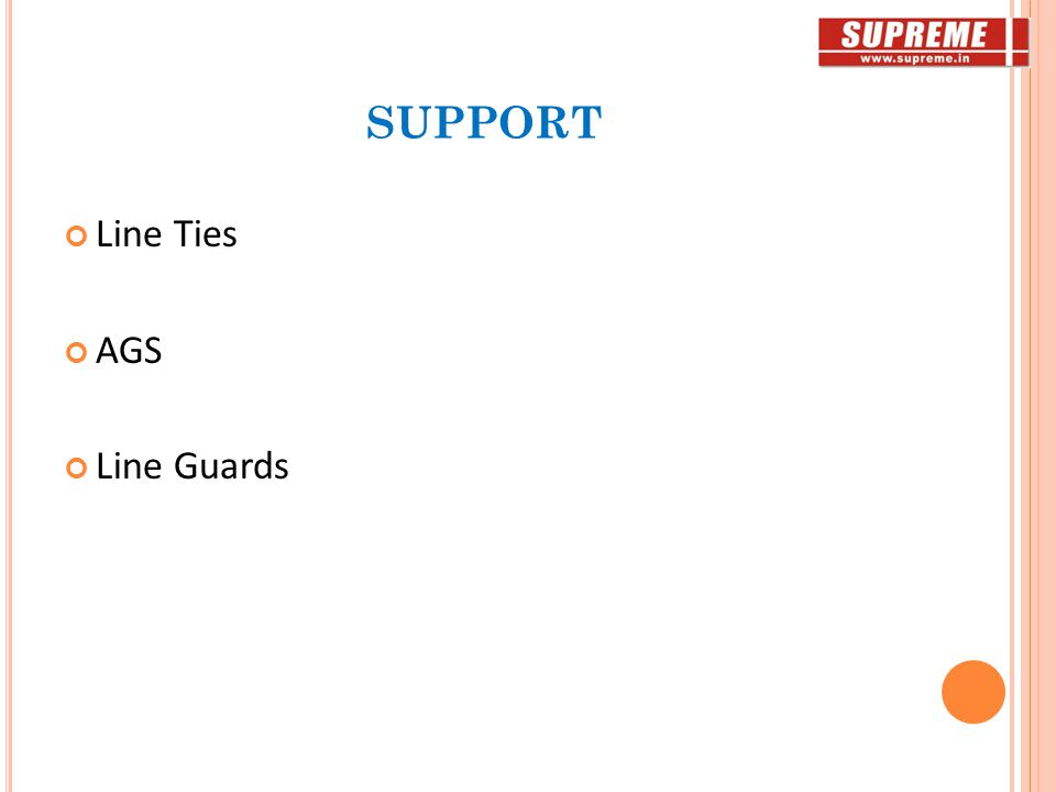 SUPPORT Line Ties AGS Line Guards
