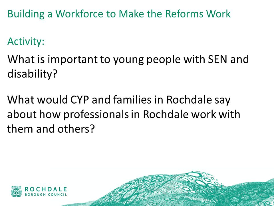 What is important to young people with SEN and disability.