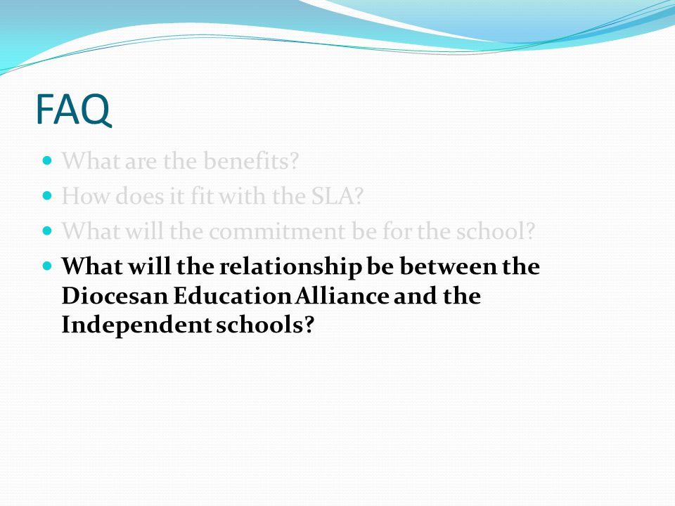 FAQ What are the benefits. How does it fit with the SLA.