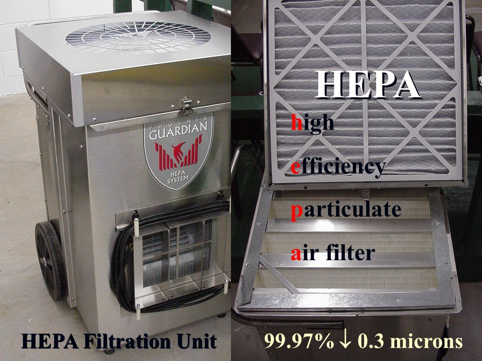 HEPA Filtration Unit HEPA 99.97%  0.3 microns high efficiency particulate air filter