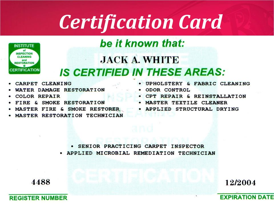 Certification Card