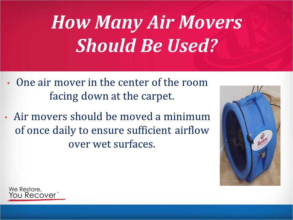 How Many Air Movers Should Be Used.