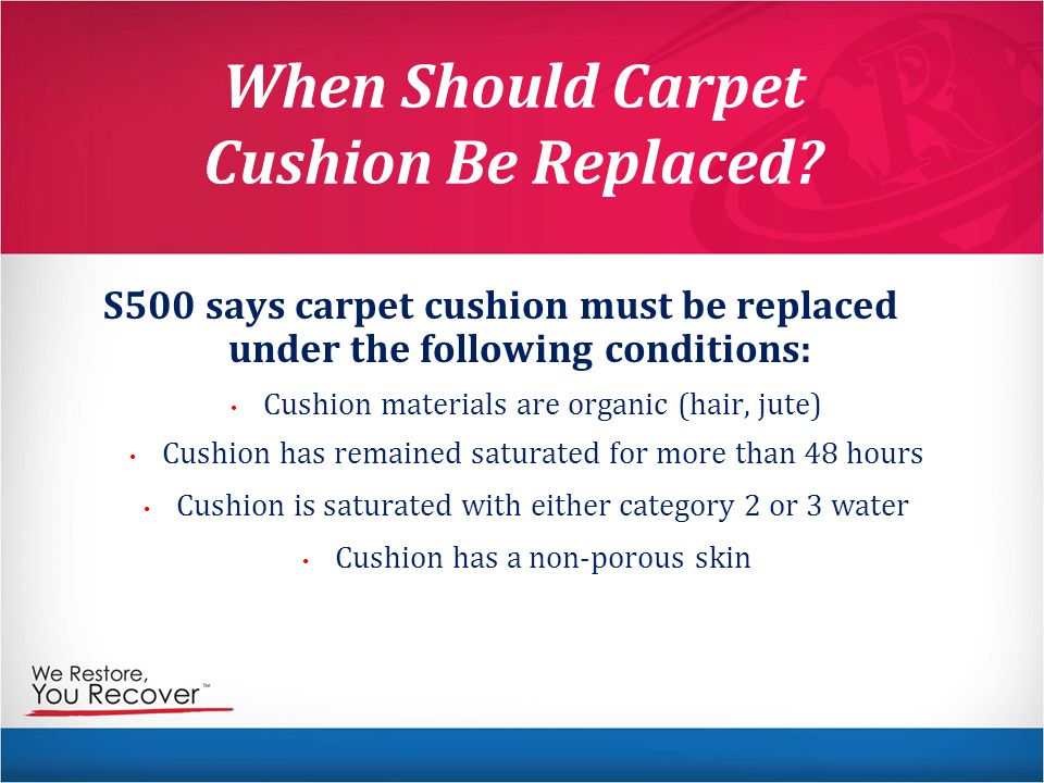 When Should Carpet Cushion Be Replaced.