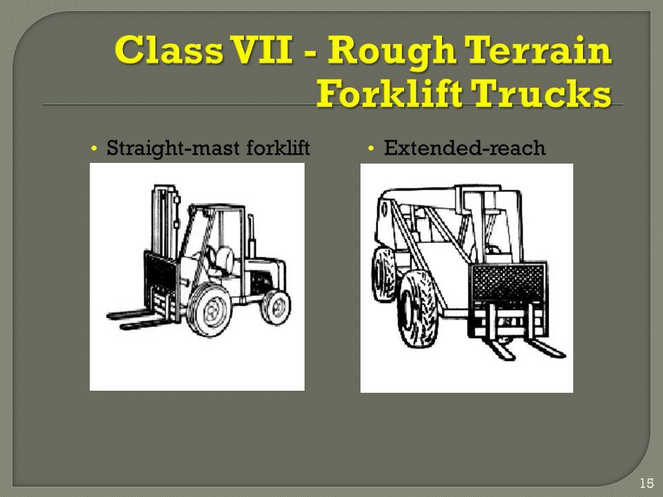 Straight-mast forklift Extended-reach forklift 15