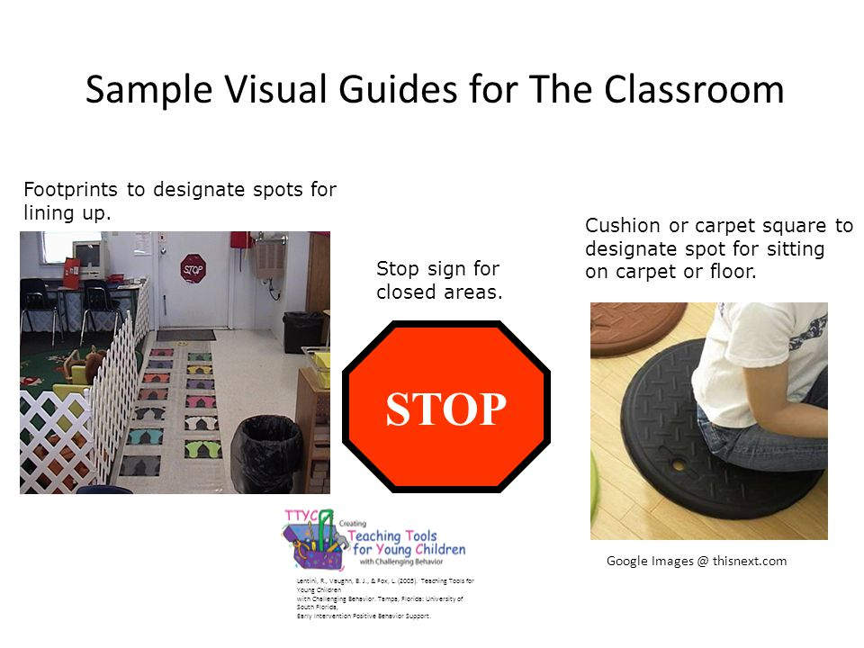 Sample Visual Guides for The Classroom Lentini, R., Vaughn, B.