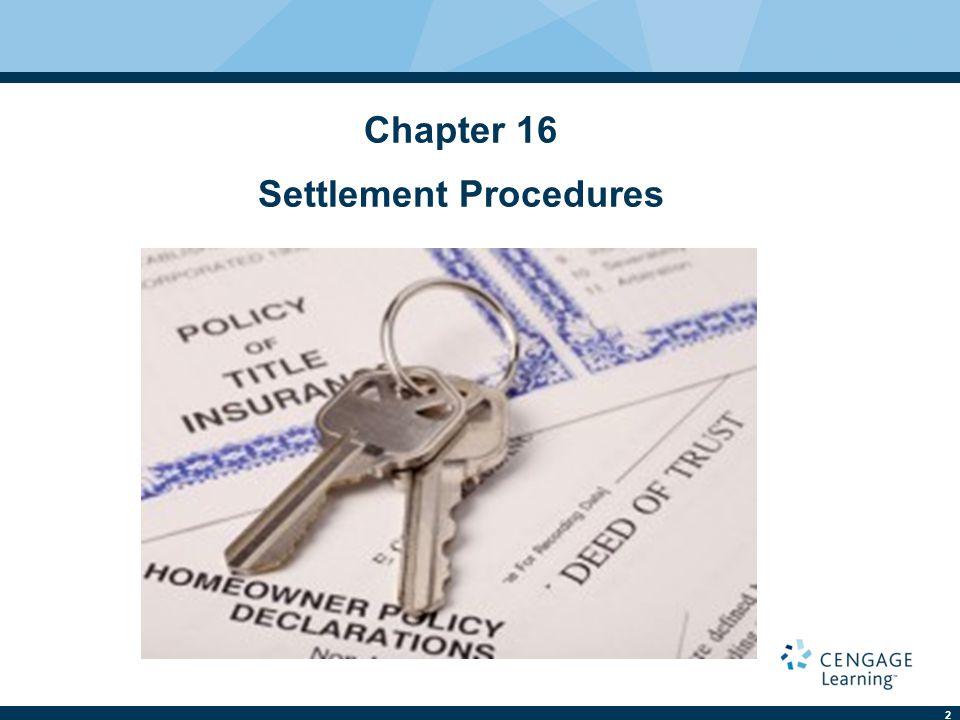 2 Chapter 16 Settlement Procedures