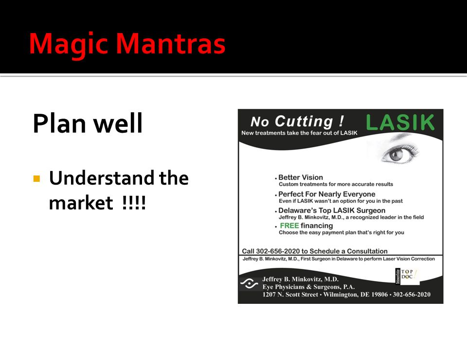 Plan well  Understand the market !!!!