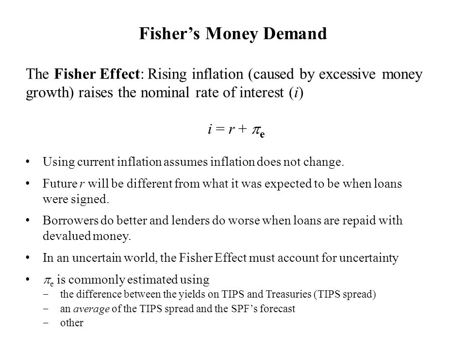 Using current inflation assumes inflation does not change. Future r will be different from what it was expected to be when loans were signed. Borrower
