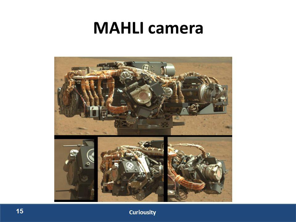MAHLI camera 15 Curiousity