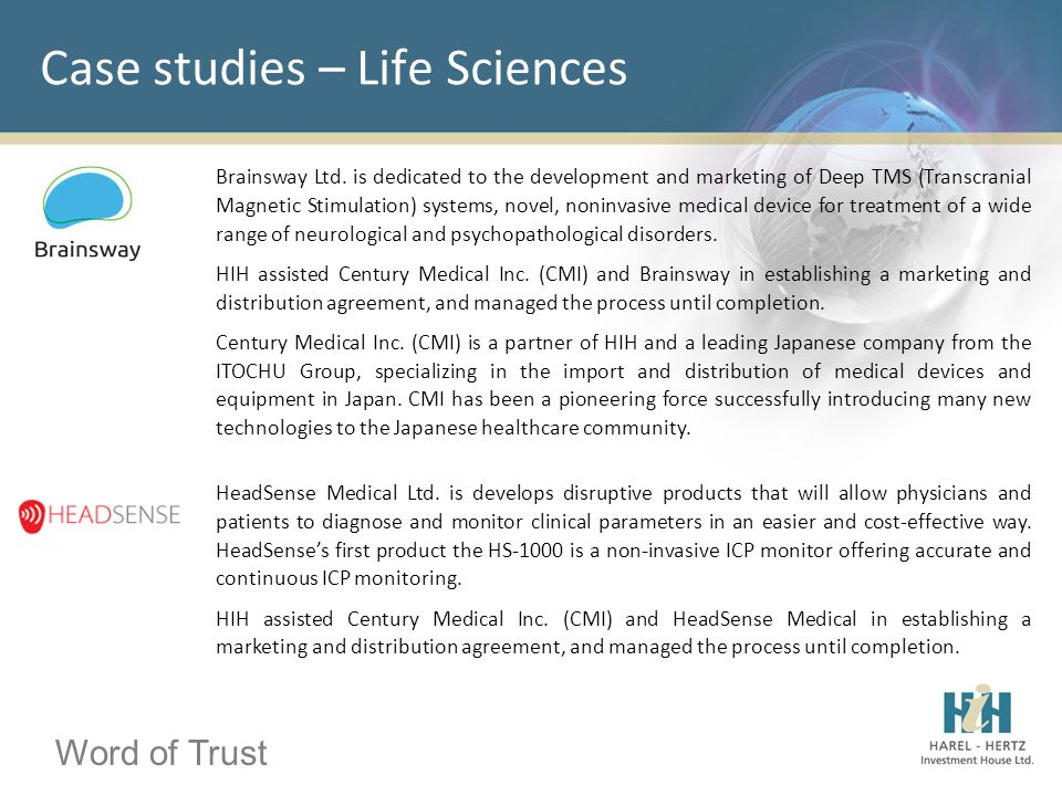 Word of Trust Case studies – Life Sciences Brainsway Ltd. is dedicated to the development and marketing of Deep TMS (Transcranial Magnetic Stimulation