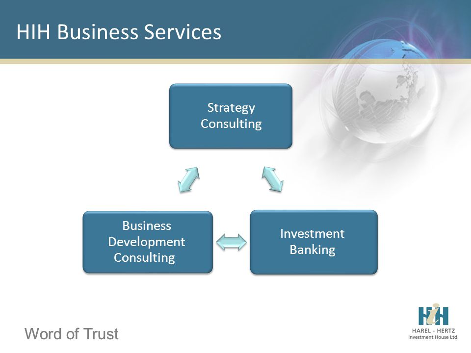 Word of Trust HIH Business Services Word of Trust Strategy Consulting Investment Banking Business Development Consulting