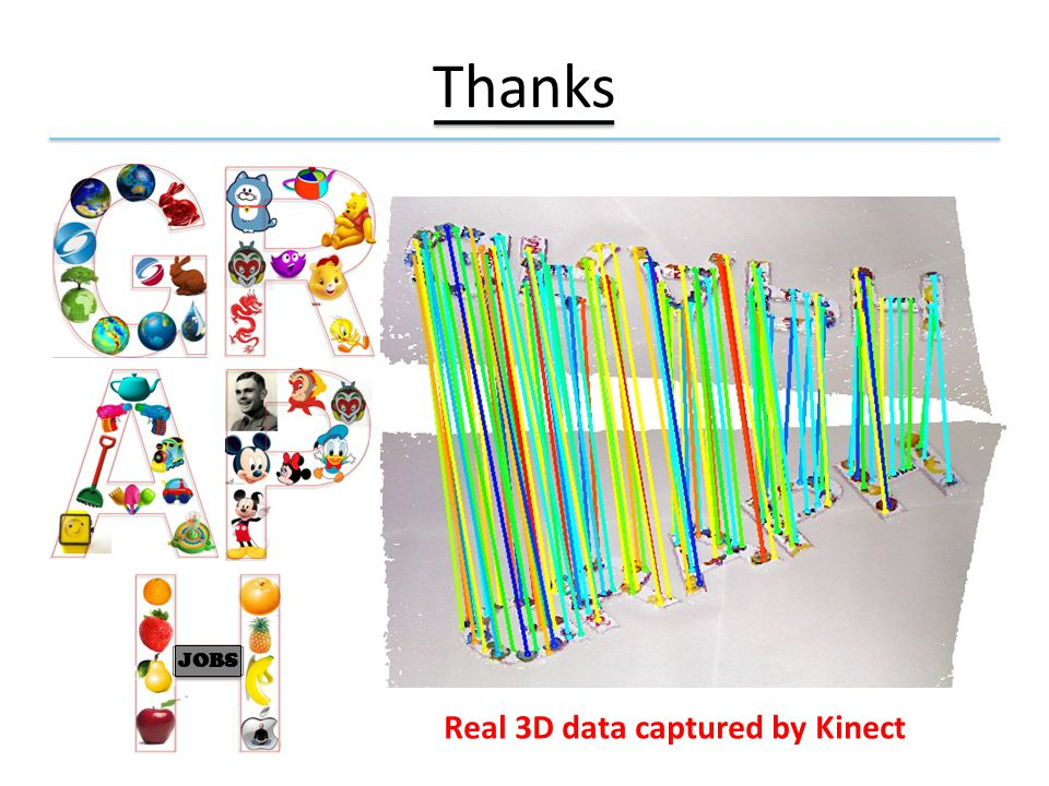 Thanks Real 3D data captured by Kinect JOBS