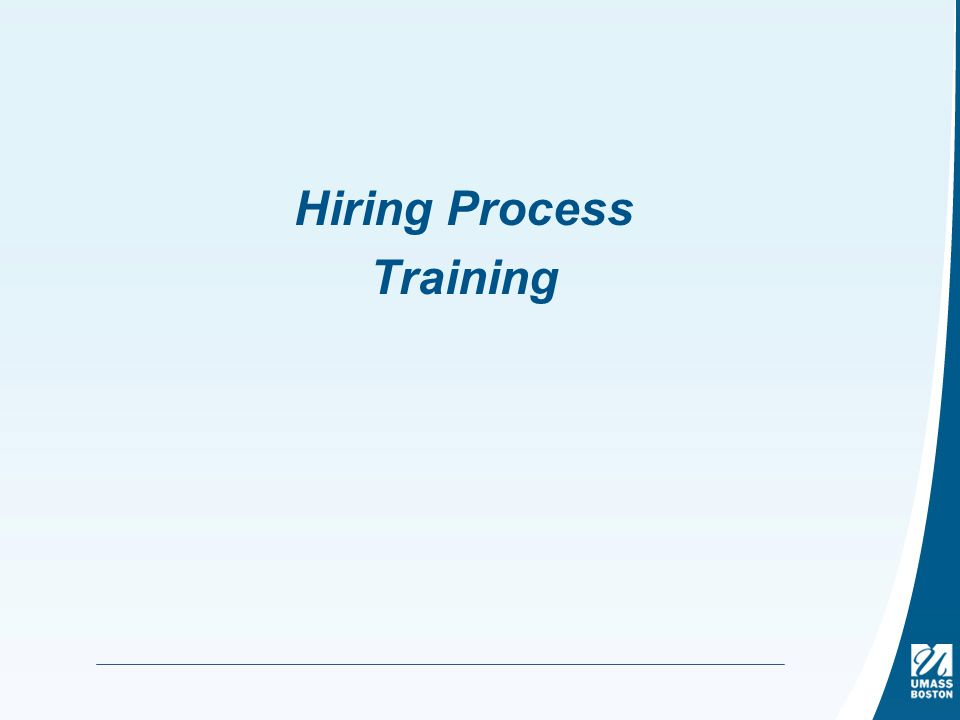 Hiring Process Training