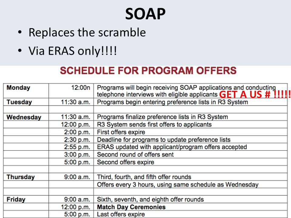 SOAP Replaces the scramble Via ERAS only!!!! GET A US # !!!!!