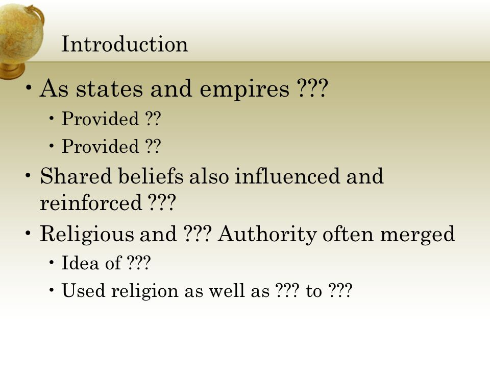 Introduction As states and empires . Provided .