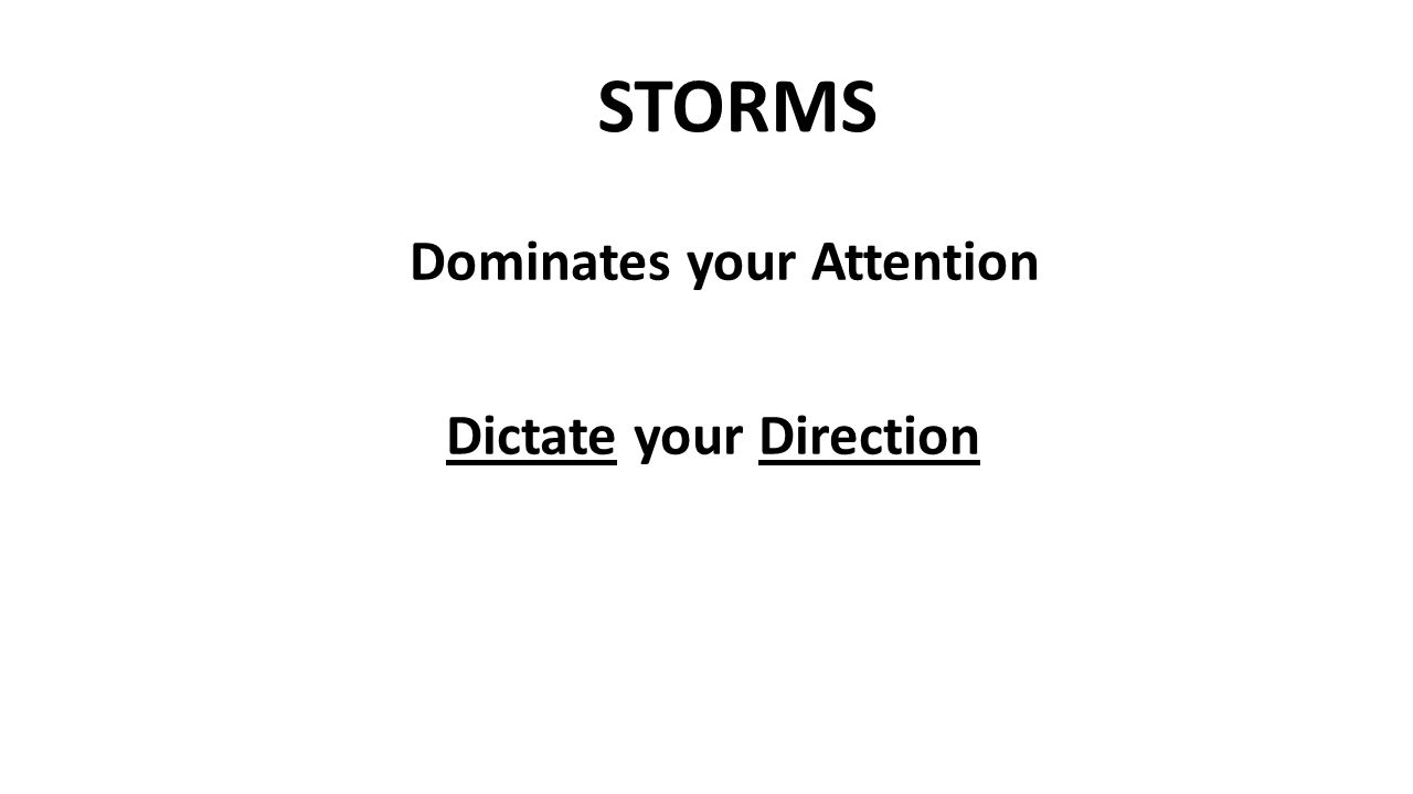 STORMS Dominates your Attention Dictate your Direction