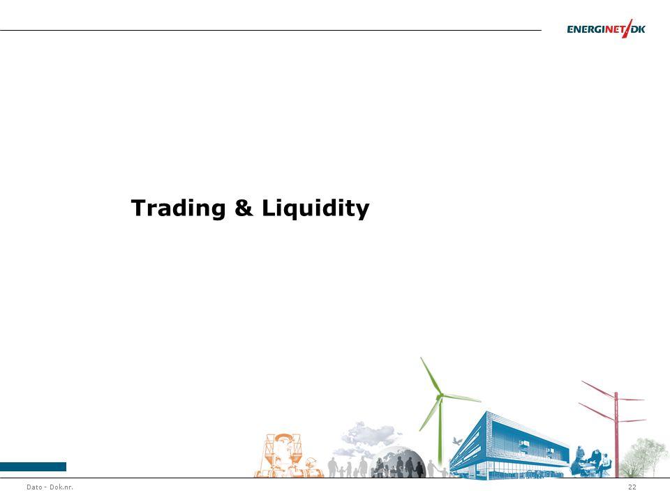 Dato - Dok.nr.22 Trading & Liquidity