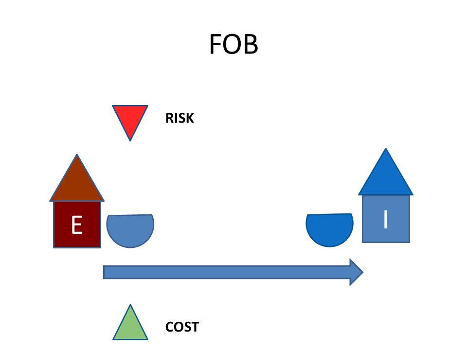 FOB E I RISK COST